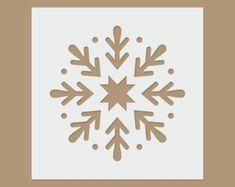 Guirnalda de la Navidad Navidad / invierno de la por StencilDirect
