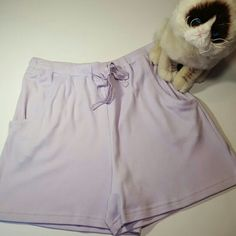 NWT! Jockey lilac pajama shorts! New with tags, never worn! Jockey lilac purple women's boxer classics pajama shorts. Super soft and comfy! Front pockets and elastic drawstring waistband. Received as a gift and they're just too big for me. 60% cotton & 40% polyester. Size small. No trades! Jockey  Intimates & Sleepwear Pajamas