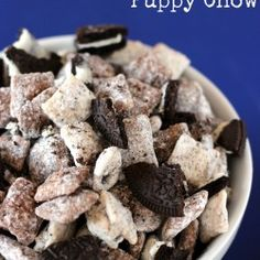 Holy Schnickies!!!  Cookies and Cream Puppy Chow
