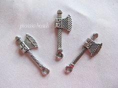 6pcs Antique Tibet Silver Ax Hachet double by SilverCharmsShop