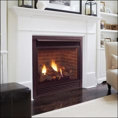 "Majestic 47"" Direct Vent Natural Gas Fireplace - 600DVMNSC 