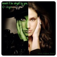 """Idina Menzel should do a wicked song on glee, preferably """"For Good""""!!!!"""