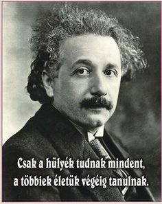 Albert Einstein was a famous physicist well-known for his theory of relativity. He is considered to be the Father of Modern Physics. Read on to learn more about his life. Motto Quotes, Life Quotes, Smart Quotes, Funny Quotes, Physicist, Albert Einstein, Motivation Inspiration, Picture Quotes, Quotations