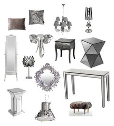 """Silver Styling"" by serendipityhome ❤ liked on Polyvore featuring interior, interiors, interior design, home, home decor and interior decorating"