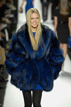 Blue fur coat? Not bad at all.... Michael Kors