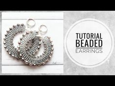 - Beaded and beads Beaded Earrings Patterns, Seed Bead Earrings, Diy Earrings, Hoop Earrings, Jewelry Making Tutorials, Beading Tutorials, Beaded Rings, Beaded Bracelets, Earring Tutorial