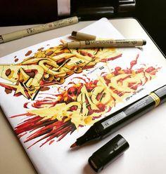 @dashe_thebullshitters #graff #graffiti #grafffunk #graffporn #graffitiporn #intagraff #instagraffiti #graffitisketch #sketch