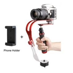 Alloy Aluminum Mini Handheld Digital Camera Stabilizer Video Steadicam Mobile DSLR 5DII Motion DV Steadycam + Smartphone Clamp //Price: $47.58      #followme
