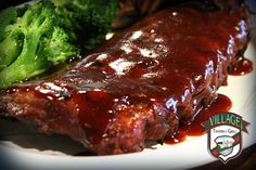 Fall-Off the bone BBQ Baby Back Ribs, 14.99! Saturday Special at Village Tavern & Grill!
