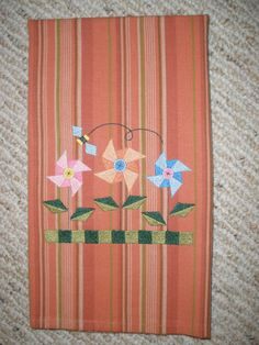 Summertime Embroidered Towel by LynnsCozyQuilts on Etsy, $8.99