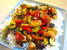 Chicken, Eggplant and Zucchini Stirfry - Chicken, Zucchini, Eggplant Stir Fry Informations About Chicken, Eggplant and Zucchini Stirfry Pin Y - Eggplant Stir Fry, Zucchini Stir Fry, Chicken Eggplant, Chicken Zucchini, Thai Eggplant, Eggplant Dishes, Veggie Recipes, Asian Recipes, Chicken Recipes