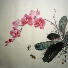 Japanese Painting, Chinese Painting, Oriental Flowers, Japanese Waves, Chinese Brush, Art Thou, China Art, Impressionism Art, Calligraphy Art