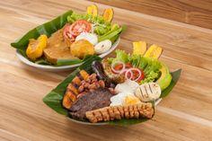 posta sudada, bandeja paisa, colombian food, comida colombiana