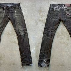 Nice fade on these Black raw denims