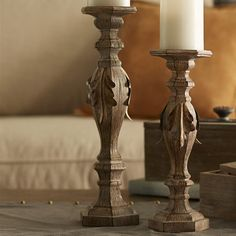 2 Piece Metal Candlestick Set