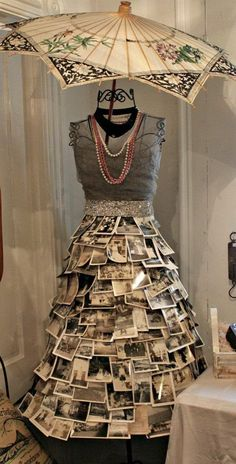 25 Creative DIY Photo Craft Ideas - When it comes to finding the perfect gifts for your friends or family members, maybe you like to do - Diy Photo, Photo Craft, Art Mannequin, Dress Form Mannequin, Vitrine Design, Recycled Fashion, Photo Displays, Display Photos, Mannequins