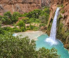 """Deep in the Grand Canyon lives the Havasupai People, the sole guardians of the pristine paradise they call Havasu Falls. """"Havasu"""" means """"blue-green water"""", and """"pai"""" means people in the Havasupai language. As soon as the falls come into sight, it's easy to see why these indigenous peoples were proud to carry the namesake of […] The post Photograph of the week: Havasu Falls, Grand Canyon appeared first on A Luxury Travel Blog."""