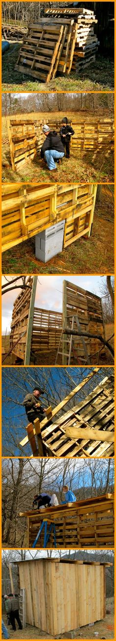 You can build a cheap storage shed or shelter from recycled pallets. View how to do it: http://theownerbuildernetwork.co/zyqk Are you also in need of a storage shed or animal shelter?
