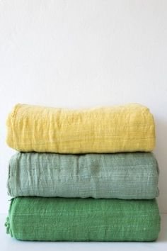 handwoven, dyed and embellished mustard kale emerald 110 x 92 inches 100% handspun cotton handmade in ethiopia