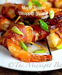 Maple Bacon Wrapped Shrimp