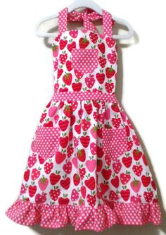 Retro Style Apron Children's Apron Little Girl by KelleenKreations, $23.00