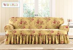 Sure Fit Slipcovers Ballad Bouquet by WaverlyTM One Piece T-cushion Slipcovers - Sofa