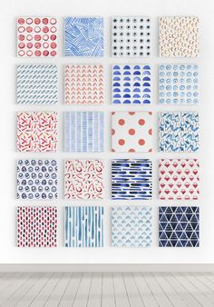 Watercolor Vision Vector Patterns by PixelBuddha on @creativemarket
