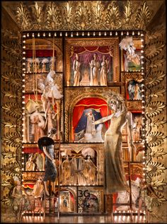 Browse the Holiday Windows at Bergdorf's, Bendel's, Barneys' and More: Bergdorf: Ziegfield Follies fantasy. (Photo: Ricky Zehavi)