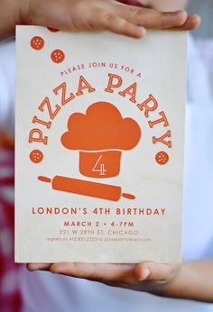 Project Nursery - Pizza Party Invitation from Minted.com