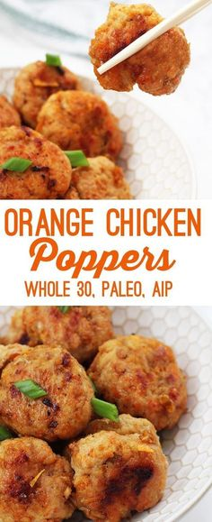 paleo orange chicken poppers