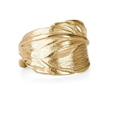 Gold Swan Feather Ring (150 AUD) ❤ liked on Polyvore featuring jewelry, rings, yellow gold rings, egyptian gold jewelry, thick rings, egyptian jewelry and 18k yellow gold ring