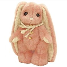 Piglette - hand made bunnies Bunny Plush, Cute Plush, Plushies, Softies, Doll Toys, Dolls, Cute Stuffed Animals, Drawing Reference Poses, Stuffed Animal Patterns