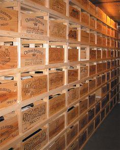 Pine wooden wine rack cellar cube 24 bottles 298mm deep wine racks uk wine rack for Amenagement cave