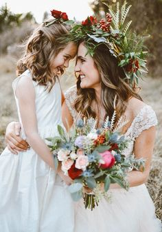 Going for a tropical look? This voluminous flower crown is the way to go | photo by Peyton Rainey Photography
