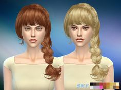 Hair 057 Aliza by Skysims at TSR • Sims 4 Updates