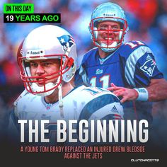 Drew Bledsoe, Tom Brady, New England Patriots, Super Bowl, Football Helmets, Nfl, Dawson's Creek, Champion, Toms
