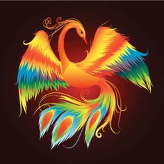 colorful #phoenix tattoo