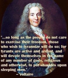so long as the people do not care to exercise their freedom, those who wish to tyrannize will do so - Voltaire Quotable Quotes, Wisdom Quotes, Me Quotes, People Quotes, Voltaire Quotes, Great Quotes, Inspirational Quotes, E Mc2, Political Quotes