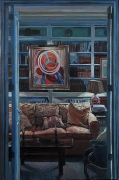 Library Upper East Side NYC, 2011 by Hector McDonnell on Curiator, the world's biggest collaborative art collection. Contemporary Art London, Contemporary Artists, Upper East Side, Creative Skills, Collaborative Art, Interior Photography, Art Inspo, Oil On Canvas, Nyc