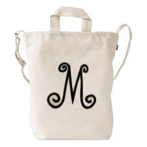 Custom #Monogram BAGGU Duck Bag Canvas #Bag