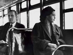 This is the anniversary of the day in 1955 when Rosa Parks was arrested for refusing to give up her seat on a bus to a white man. She sat down so that black people could stand up for their rights. Parks' act of defiance and the Montgomery Bus Boycott became an important symbol of the Civil Rights movement.