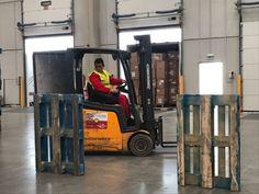 Maniobras de circulación con carretilla frontal en la actualización formativa carretillas elevadoras en XPO Logistics