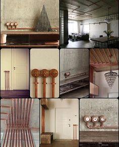 Проводка в медных трубах. #Гусевъ #дизайнеринтерьера #дизайн #mishaflat #медныетрубы #выключатели #розетки #переключатели #медь