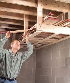 Overhead Lumber Rack - Woodworking Shop - American Woodworker