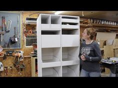 How To Build A Free Standing Pantry with Pull Out Drawers - Wilker Do& Pull Out Kitchen Storage, Small Kitchen Pantry, Corner Pantry, Kitchen Cabinet Storage, Kitchen Cabinets, Kitchen Nook, Corner Shelves, Kitchen Redo, Kitchen Ideas