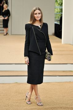 Olivia Palermo Olivia Palermo arrives at Burberry Prorsum Womenswear Spring/Summer 2014 show during London Fashion Week at Kensington Garden...