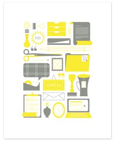 Eight Hour Day » Office Letterpress Print