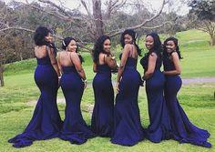 Gorgeous #bridesmaids in our Navy Arianna Dress  #Whiterunway #realrunway #wedding