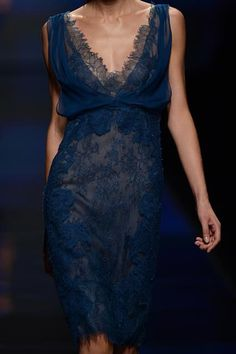 Midnight blue lace.