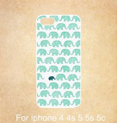 iphone 5c case  Blue Elephant iphone 5 case iphone 5s by GiftDream